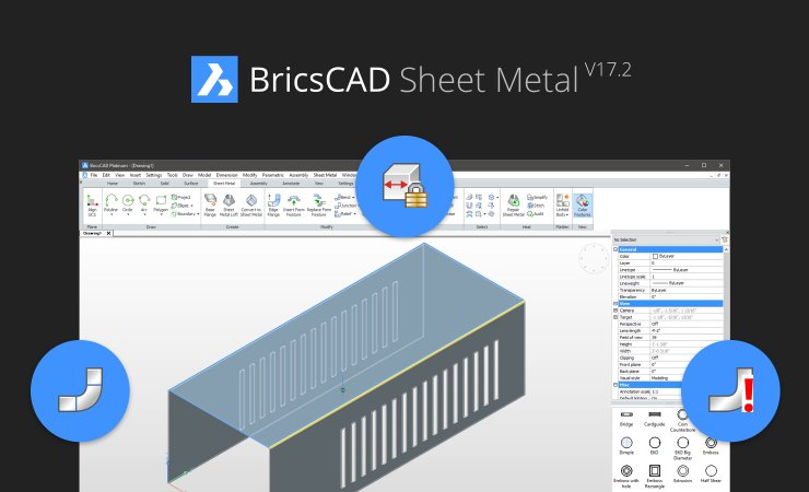 World Class Sheet Metal For Bricscad Adds New Power In V17